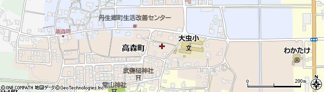 福井県越前市高森町周辺の地図
