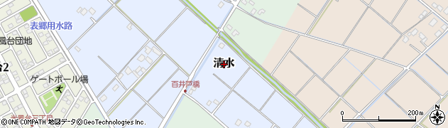 茨城県取手市清水周辺の地図