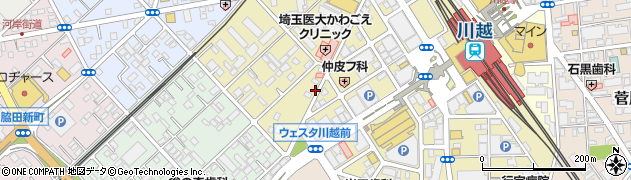 埼玉県川越市脇田本町周辺の地図