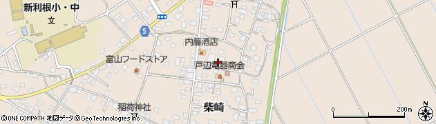 茨城県稲敷市柴崎周辺の地図