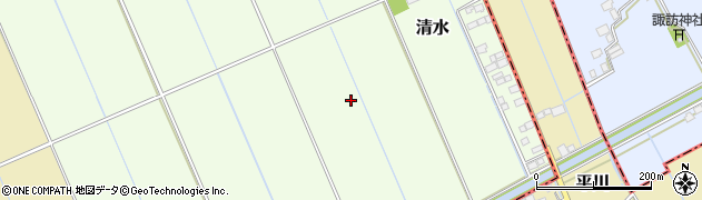 茨城県稲敷市清水周辺の地図