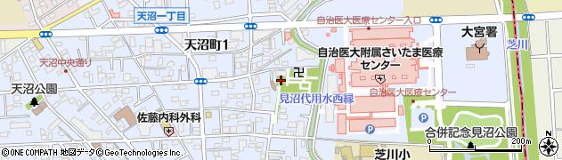 天沼神社周辺の地図