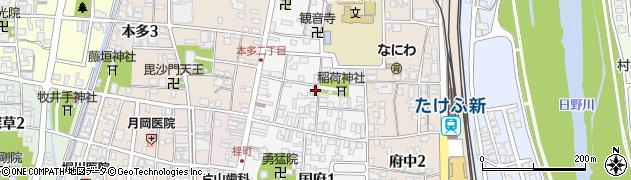 福井県越前市国府周辺の地図