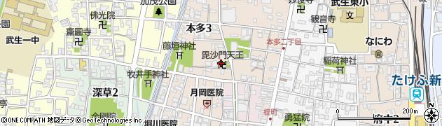 毘沙門天王周辺の地図