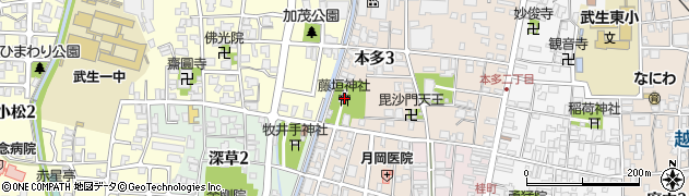 藤垣神社周辺の地図