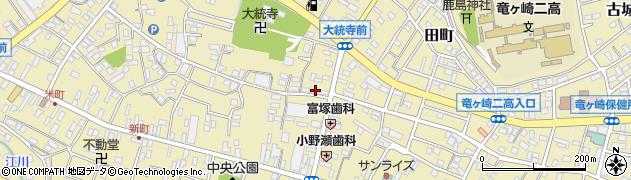茨城県龍ケ崎市横町周辺の地図