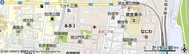 福井県越前市本多周辺の地図