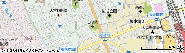 日明院周辺の地図
