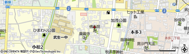 仏光院周辺の地図