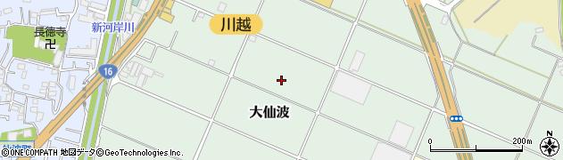 埼玉県川越市大仙波周辺の地図