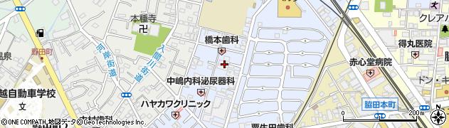 埼玉県川越市東田町周辺の地図