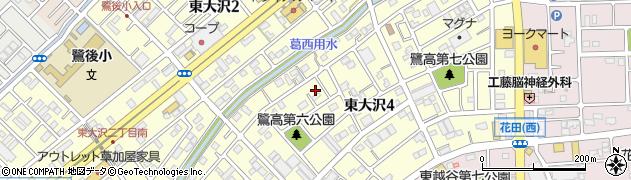 埼玉県越谷市東大沢4丁目8-11周辺の地図
