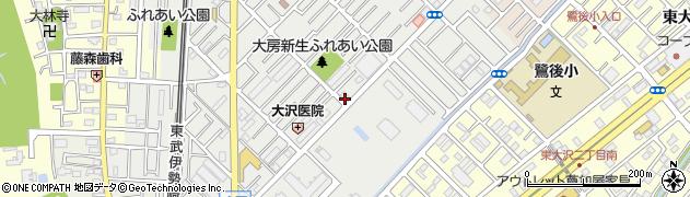 埼玉県越谷市大房周辺の地図