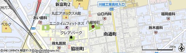 川越八幡神社周辺の地図