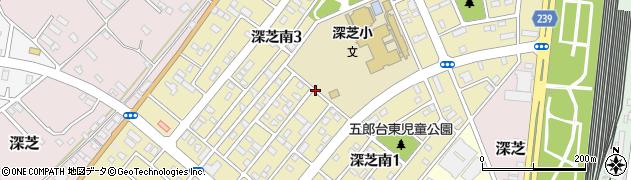 茨城県神栖市深芝南周辺の地図