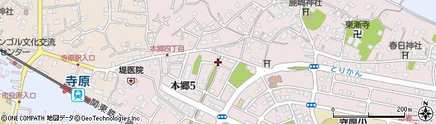 茨城県取手市本郷周辺の地図