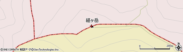 経ケ岳周辺の地図