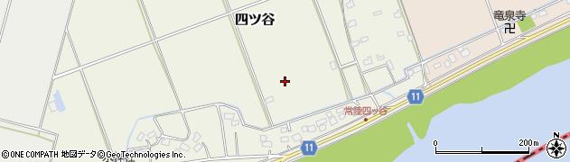 茨城県稲敷市四ツ谷周辺の地図