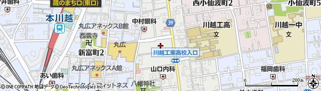 埼玉県川越市通町周辺の地図