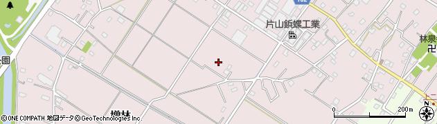 埼玉県越谷市増林周辺の地図