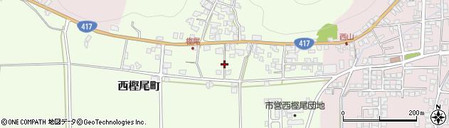 福井県越前市西樫尾町周辺の地図