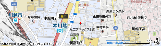 埼玉県川越市新富町周辺の地図