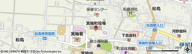 長野県上伊那郡箕輪町周辺の地図