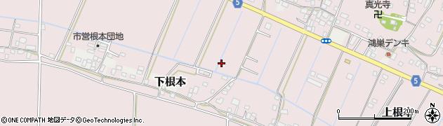 茨城県稲敷市上根本周辺の地図