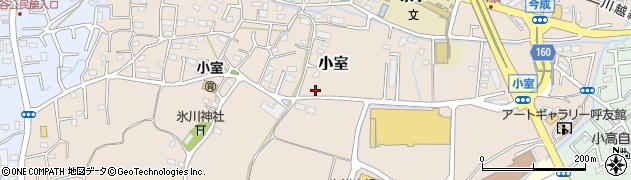 埼玉県川越市小室周辺の地図