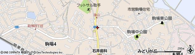 茨城県取手市駒場周辺の地図