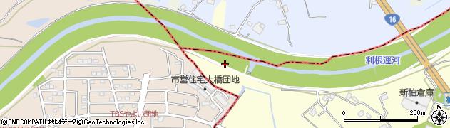 千葉県柏市下三ケ尾飛地周辺の地図