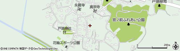 茨城県取手市戸頭周辺の地図