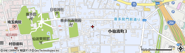 埼玉県川越市小仙波町周辺の地図