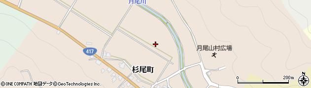 福井県越前市杉尾町周辺の地図