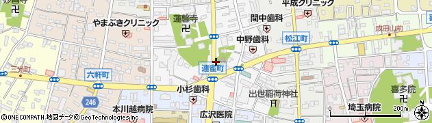 埼玉県川越市連雀町周辺の地図