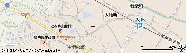 茨城県龍ケ崎市入地町周辺の地図