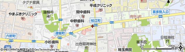 埼玉県川越市松江町周辺の地図