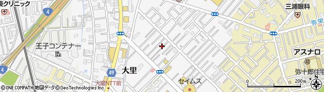 埼玉県越谷市大里周辺の地図