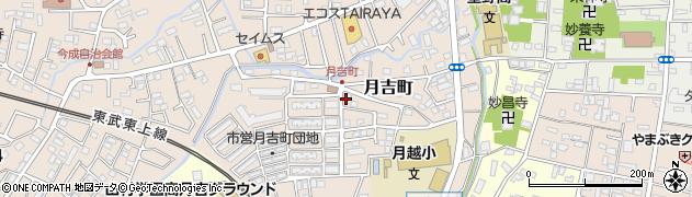 埼玉県川越市月吉町周辺の地図
