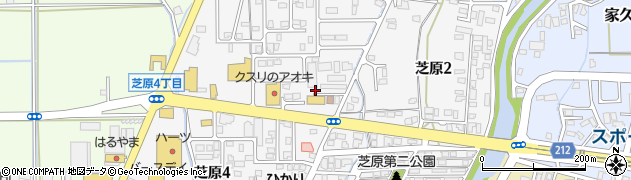 福井県越前市芝原周辺の地図
