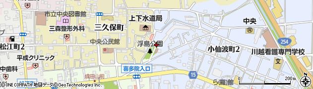 浮島神社周辺の地図