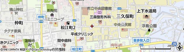 埼玉県川越市三久保町周辺の地図