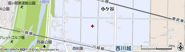 埼玉県川越市小ケ谷周辺の地図