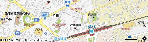 茨城県取手市片町周辺の地図