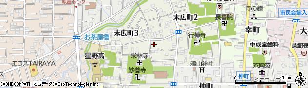 埼玉県川越市末広町周辺の地図