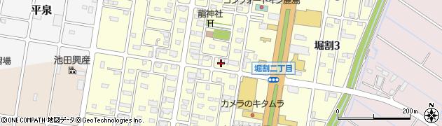 茨城県神栖市堀割周辺の地図
