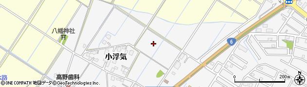 茨城県取手市小浮気周辺の地図