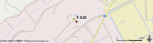 茨城県稲敷市下太田周辺の地図
