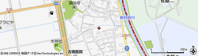 茨城県稲敷市西代周辺の地図