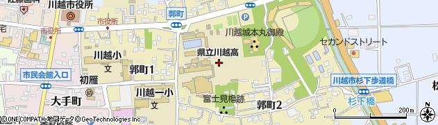 埼玉県川越市郭町周辺の地図